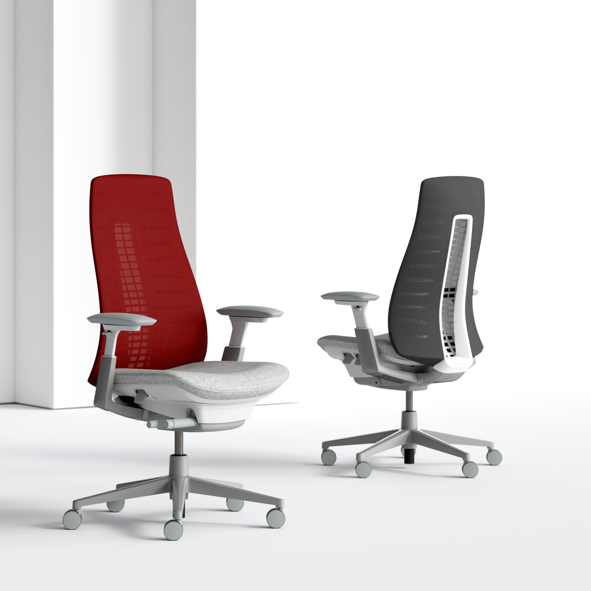 3D Animation of Desk Chairs