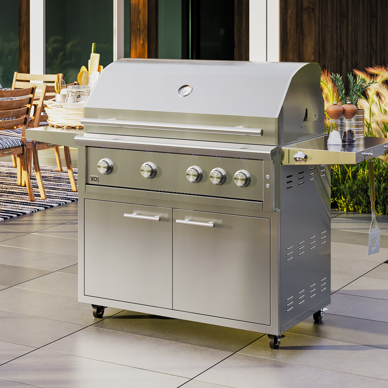 3D Rendering of Outdoor Grill