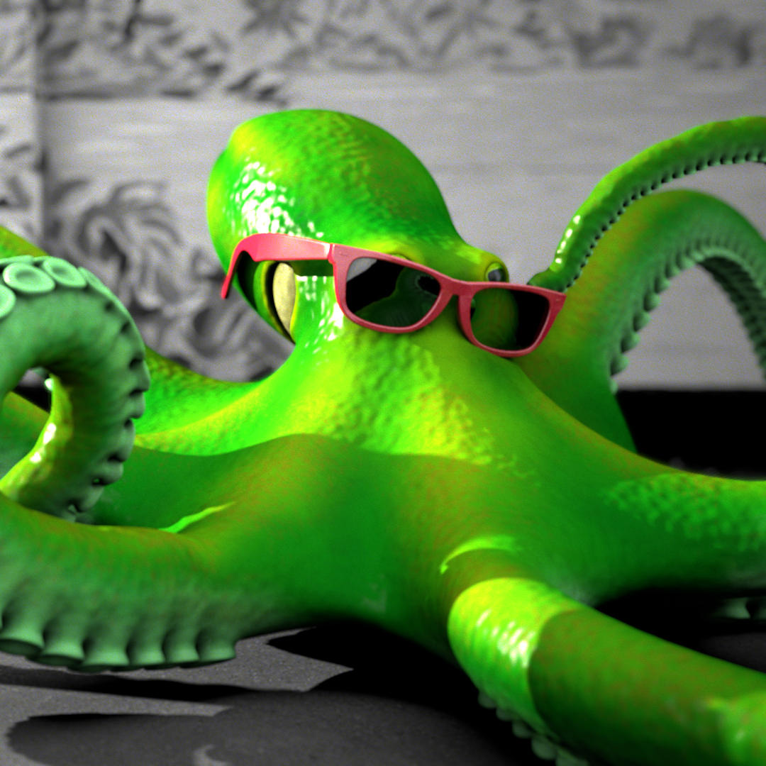 3D Animation of Octopus