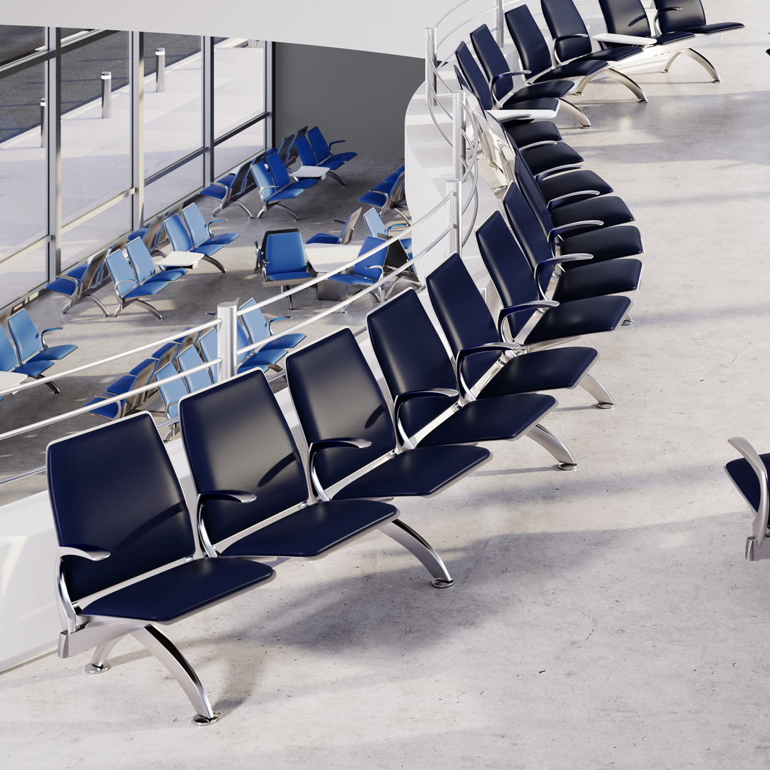 3D Rendering of Transportation Seating