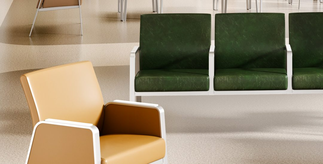 3D Rendering of Waiting Room Seating