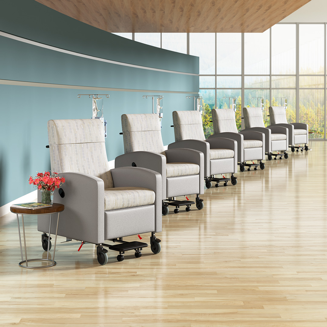 3D Rendering of Medical Office Chairs